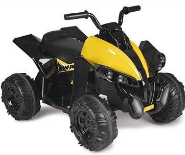 un quad jaune