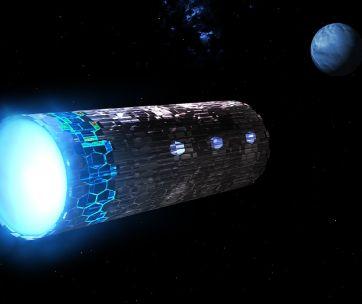 un ovni dans l'espace