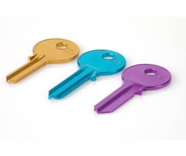 clef maison multicolores
