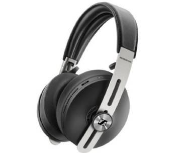 un casque audio en cuir noir et métal