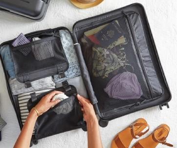 rangement d'une valise pour un voyage