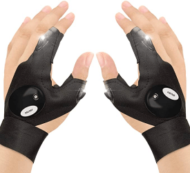 gant lumineux noir