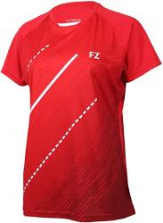 maillot rouge badminton femme