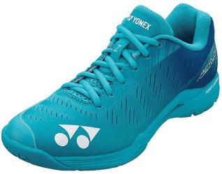 chaussures de badminton femme bleue