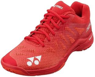 chaussures badminton rouges pour hommes