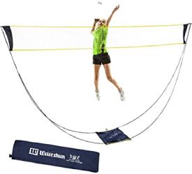 Filet de badminton portable avec sac de transport