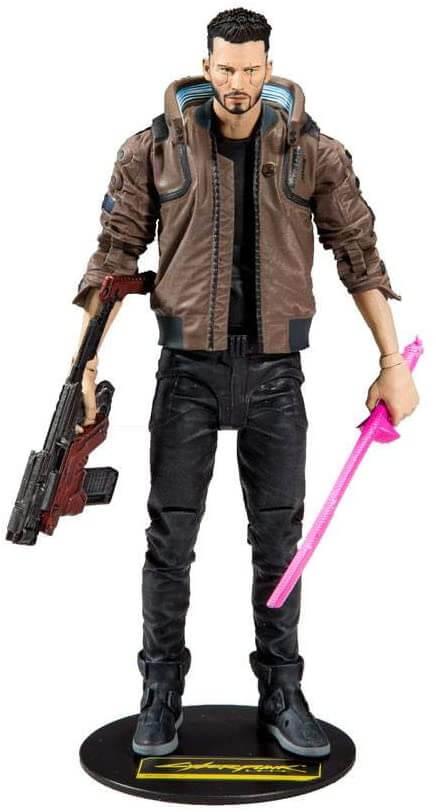 figurine du héros de cyberpunk