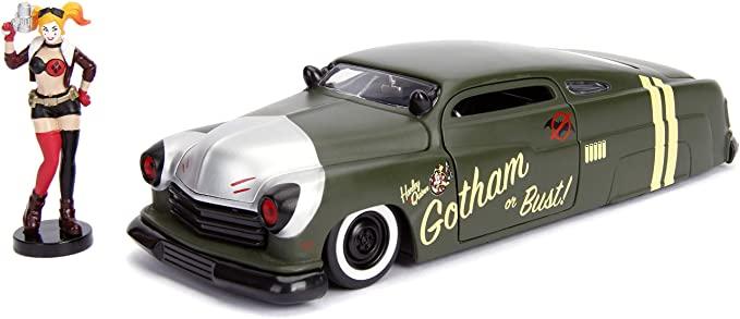 Figurine voiture grise de Harley Quinn