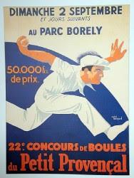 Poster de pétanque Marseille parc Borely