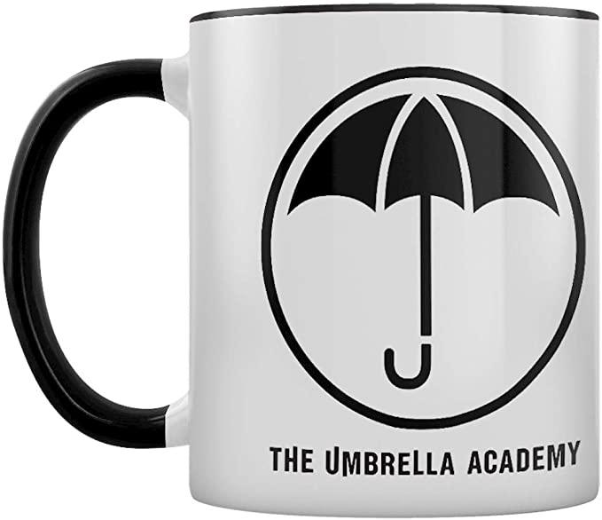 mug noir et blanc umbrella academy parapluie