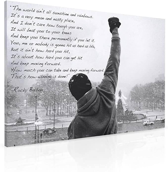 Impression sur toile Rocky Balboa