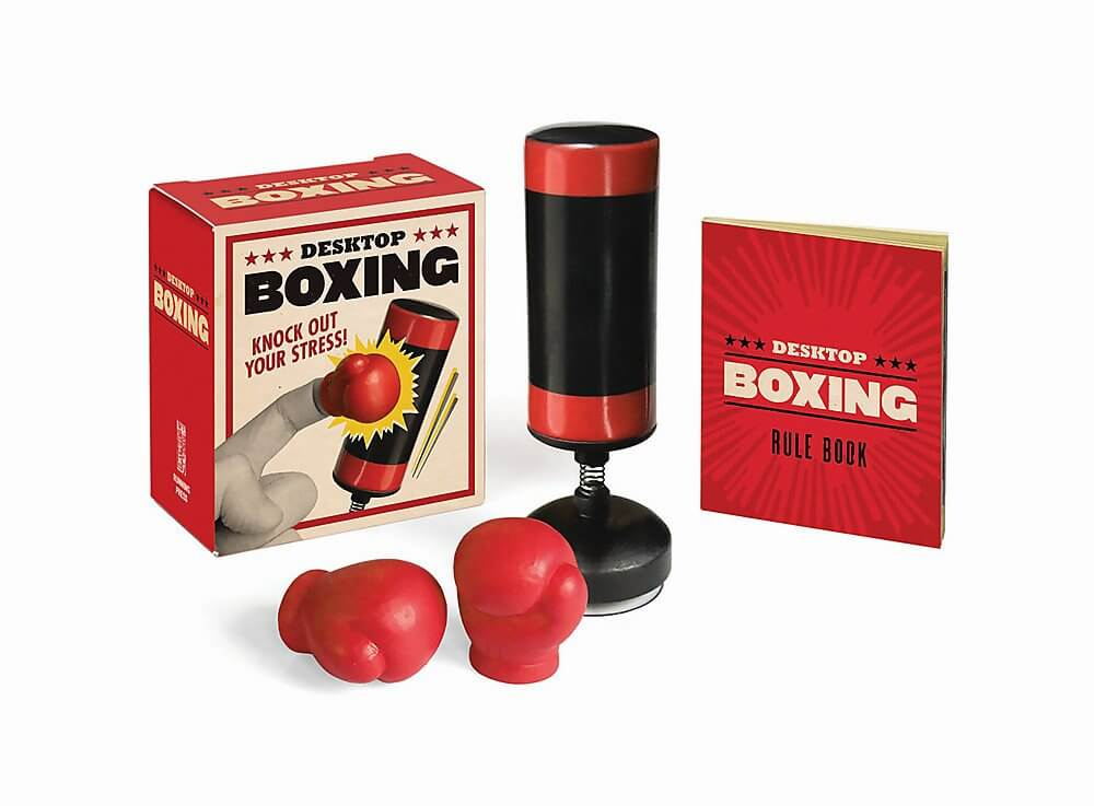 petit puching ball de bureau rouge