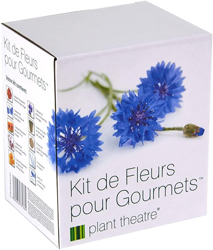 boite blanche qui contient des pots de fleurs biodégradables