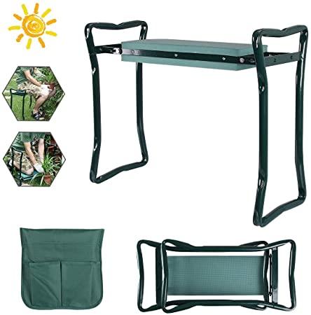 un tabouret verre pour jardiner contre le mal de dos