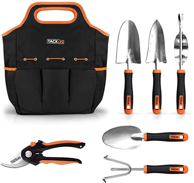 cadeau jardinage outils pour jardinage noir et orange