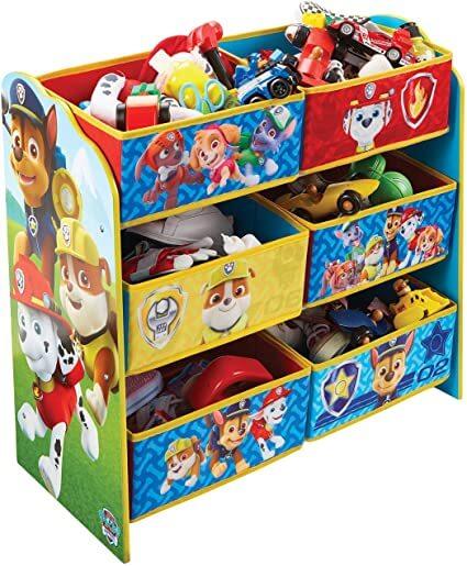 meuble de rangement multicouleurs pour enfant
